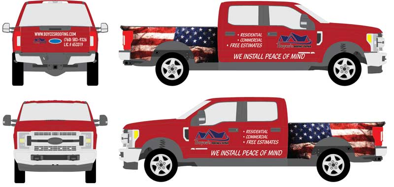 Ford truck vehicle wrap template
