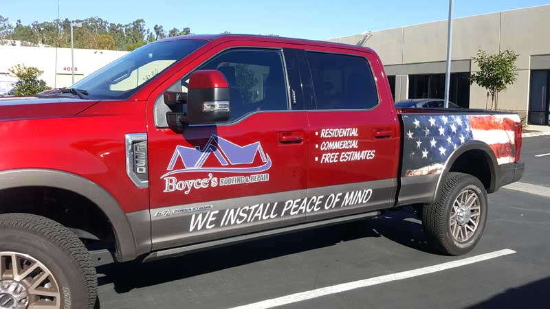 Ford truck vehicle wrap graphics