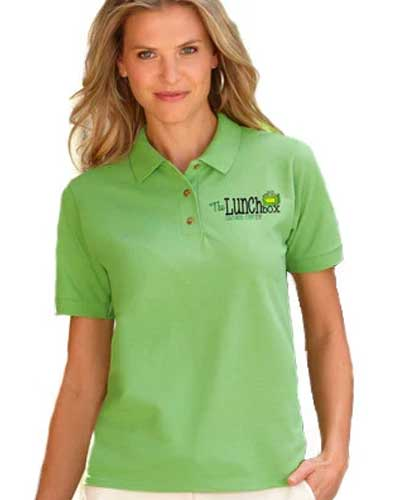 Embroidered women polo shirt