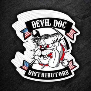 USMC devil dog sticker