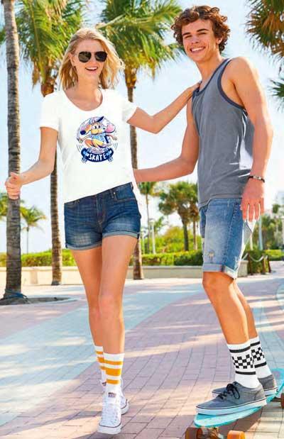 Screen printing skatewear