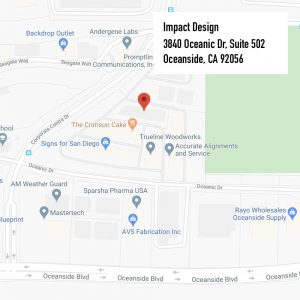 Impact Design location Oceanside